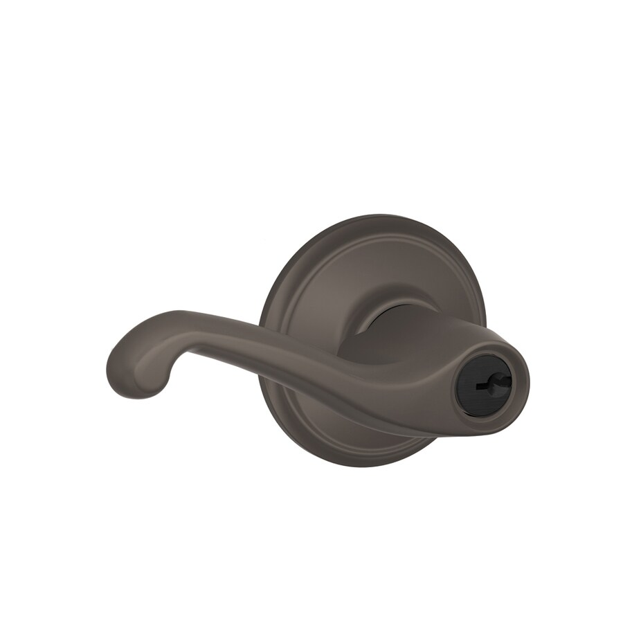 Schlage F Flair Traditional Oil-Rubbed Bronze Universal Keyed Entry Door Lever