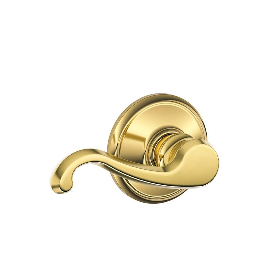 Shop Schlage Callington Antique Brass Handed Passage Door