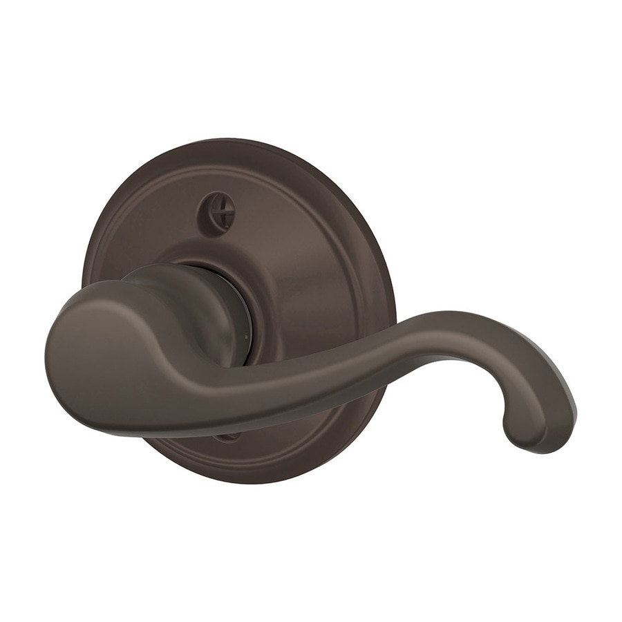 Schlage F Callington Oil-Rubbed Bronze Right-Handed Dummy Door Lever