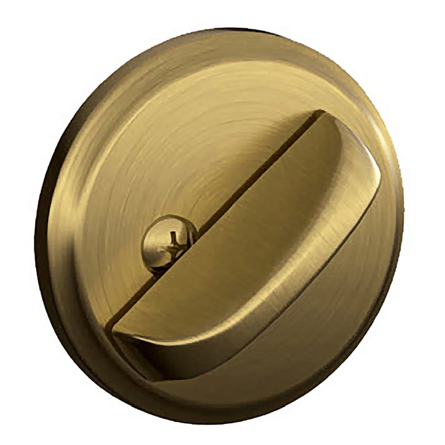 Shop Schlage J Antique Brass Deadbolt At Lowes Com