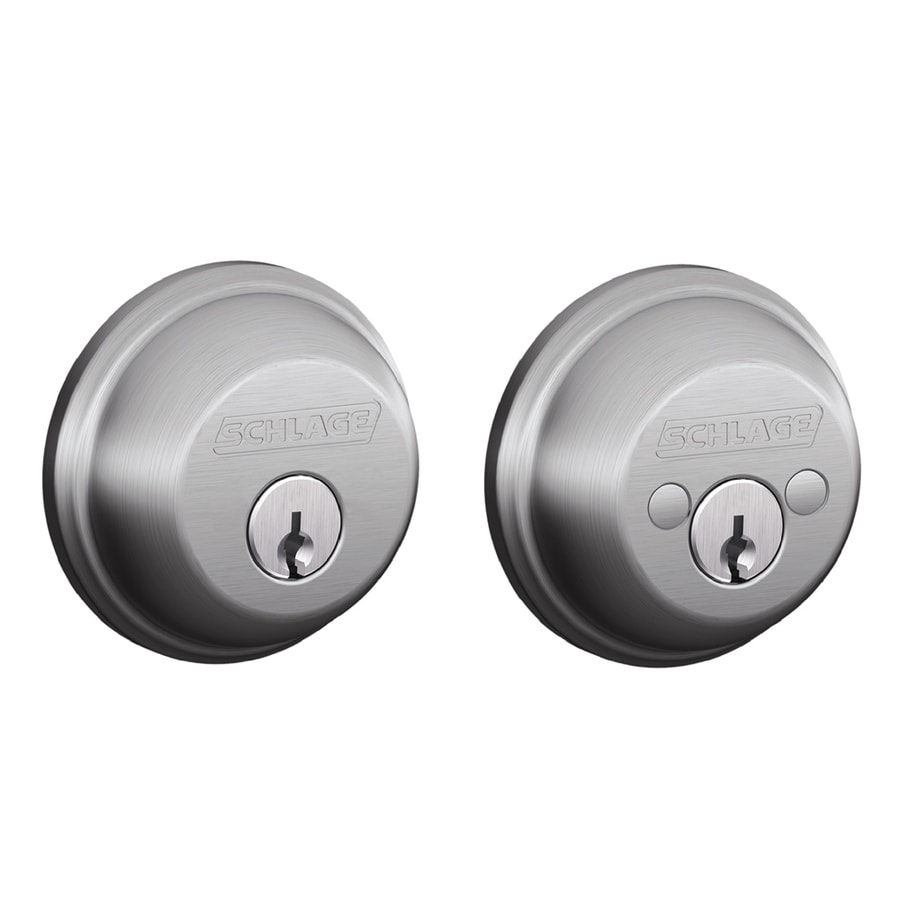 Schlage B Satin Chrome Double-Cylinder Deadbolt
