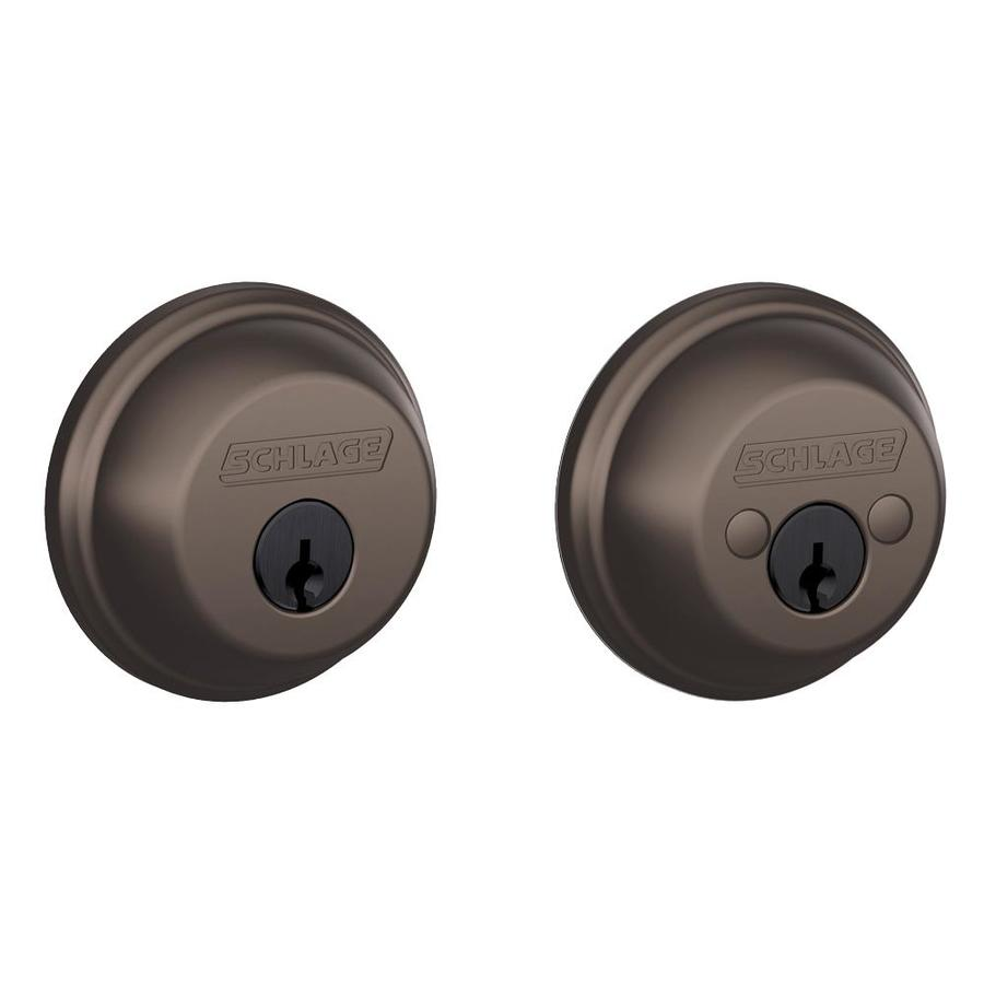 Schlage B Oil-Rubbed Bronze Double-Cylinder Deadbolt