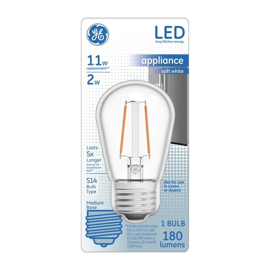 Ge 11 Watt Eq 3 In S14 Soft White Appliance In The Specialty Light Bulbs Department At Lowes Com