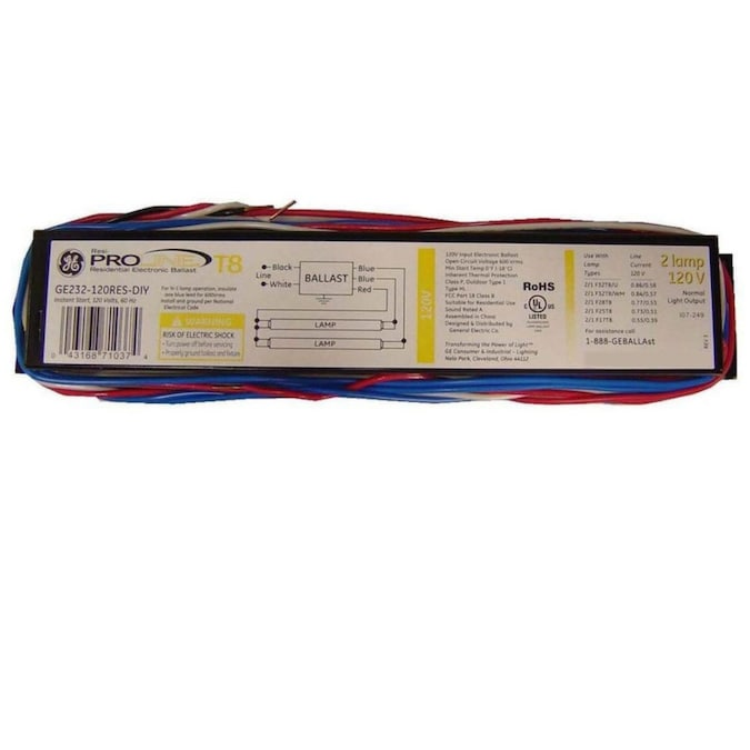 GE 2-Bulb Residential Electronic Fluorescent Light Ballast in the Ballasts  department at Lowes.comLowe's