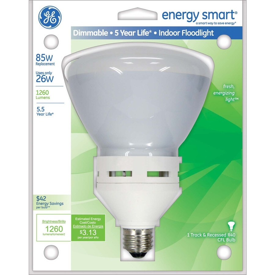 GE 26-Watt (85W Equivalent) 2,700K BR40 Medium Base (E-26) Soft White Dimmable CFL Bulb