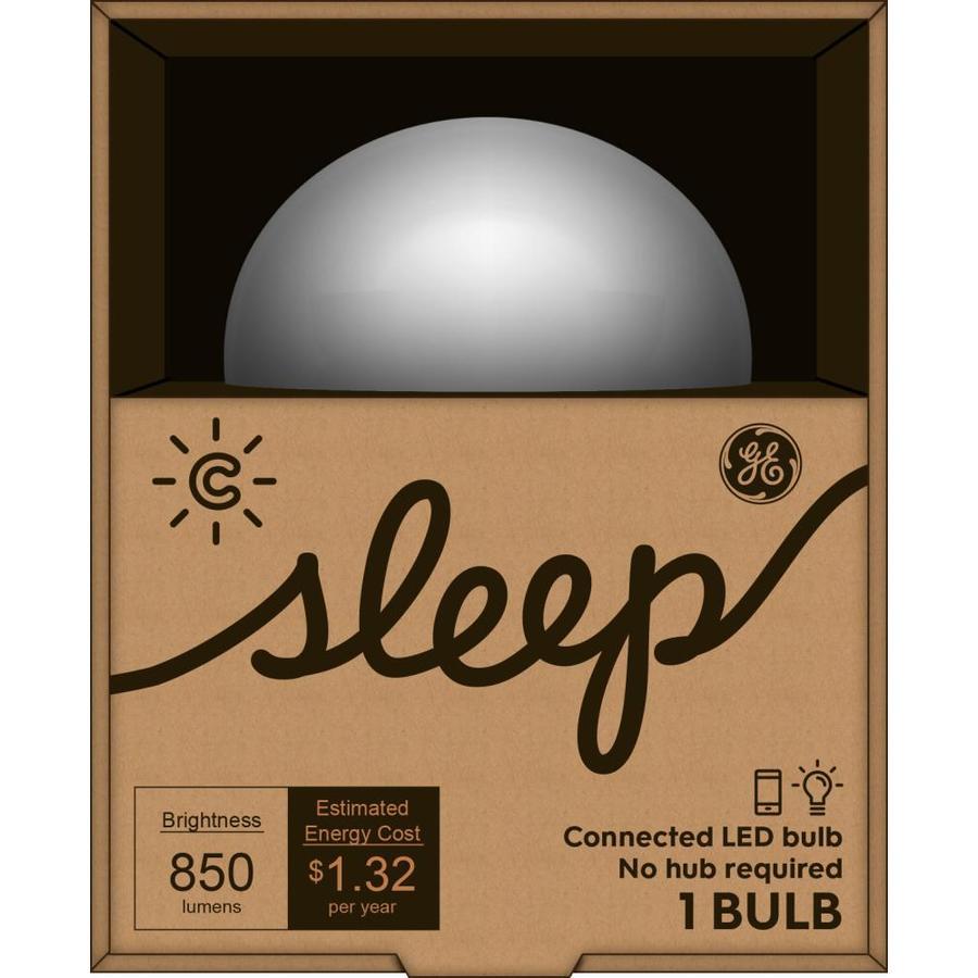 GE C-Sleep 11-Watt (60W Equivalent) 6500K A19 Medium Base (E-26) Dimmable Full Spectrum LED Bulb with Bluetooth Capability