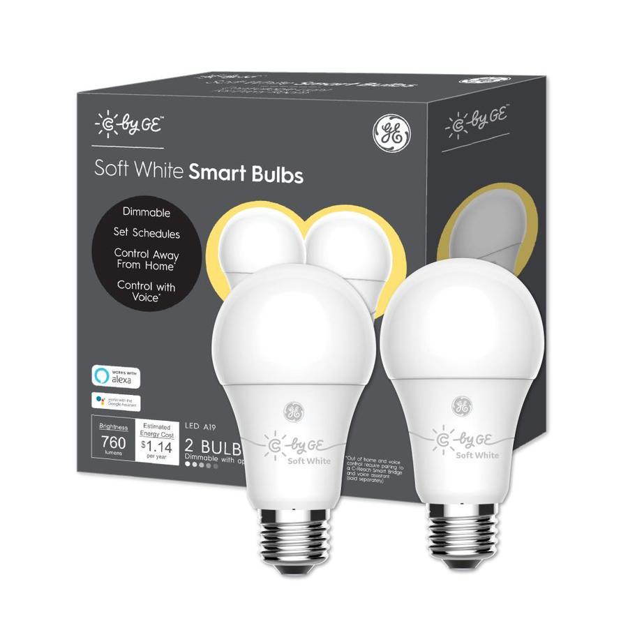 2-Pack GE C-Sleep Smart Bulbs A19 Tunable Smart LED White New w//Free Shipping