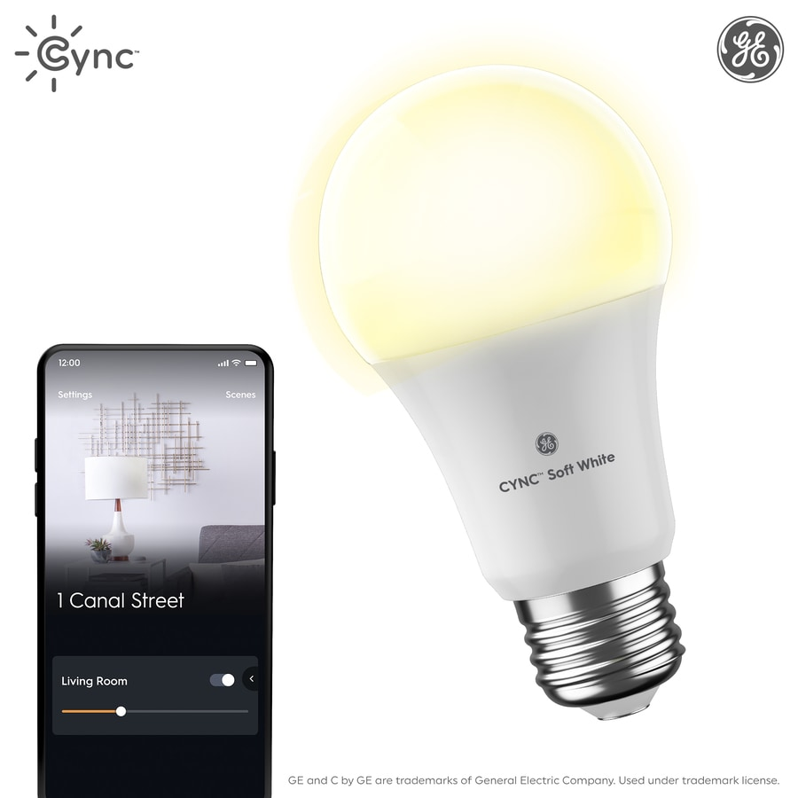 Wi-Fi Light Bulb Smart Light Bulb Works with Alexa and Google Home Without a Hub Bluetooth Light Bulb C by GE Soft White Direct Connect Light Bulb 60W Replacement 1 A19 Smart LED Bulbs 1-Pack