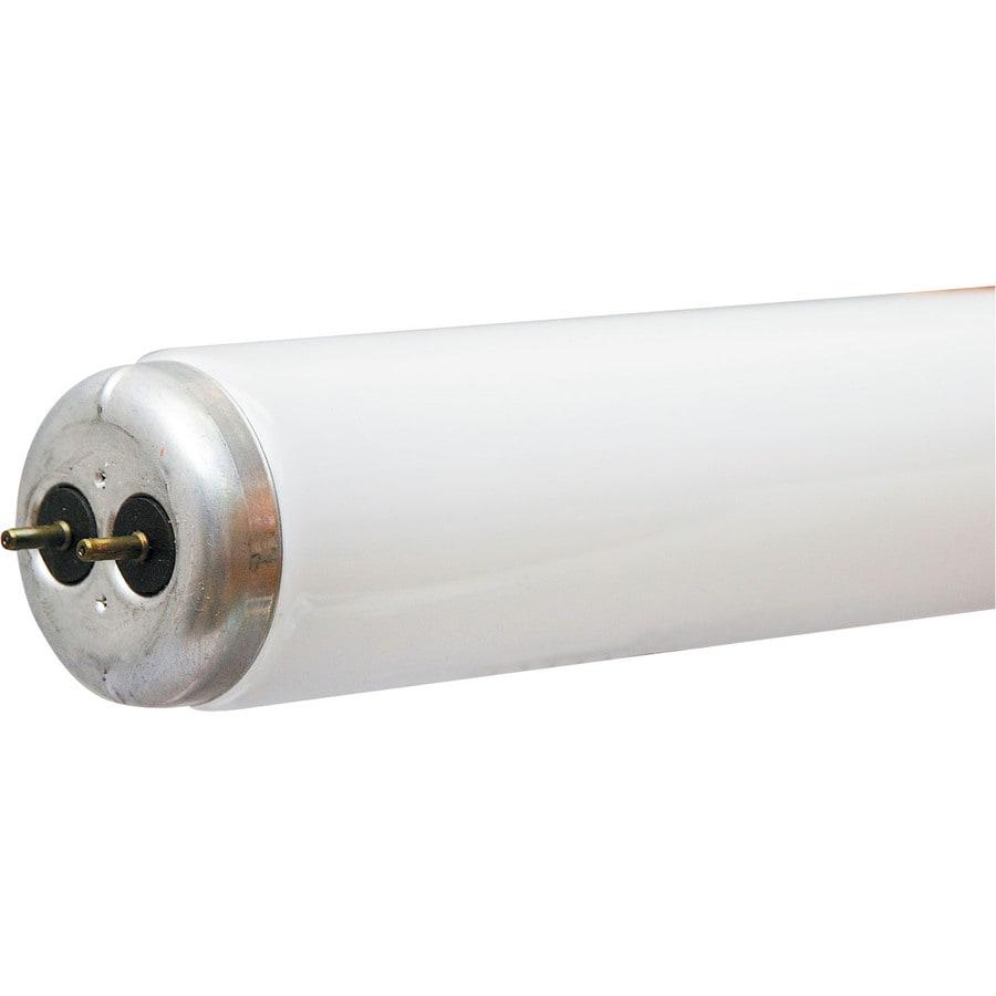 Shop Ge 2 Pack 40 Watt 3 500k Bright White Fluorescent Tube Light Bulbs Common 48 In Actual