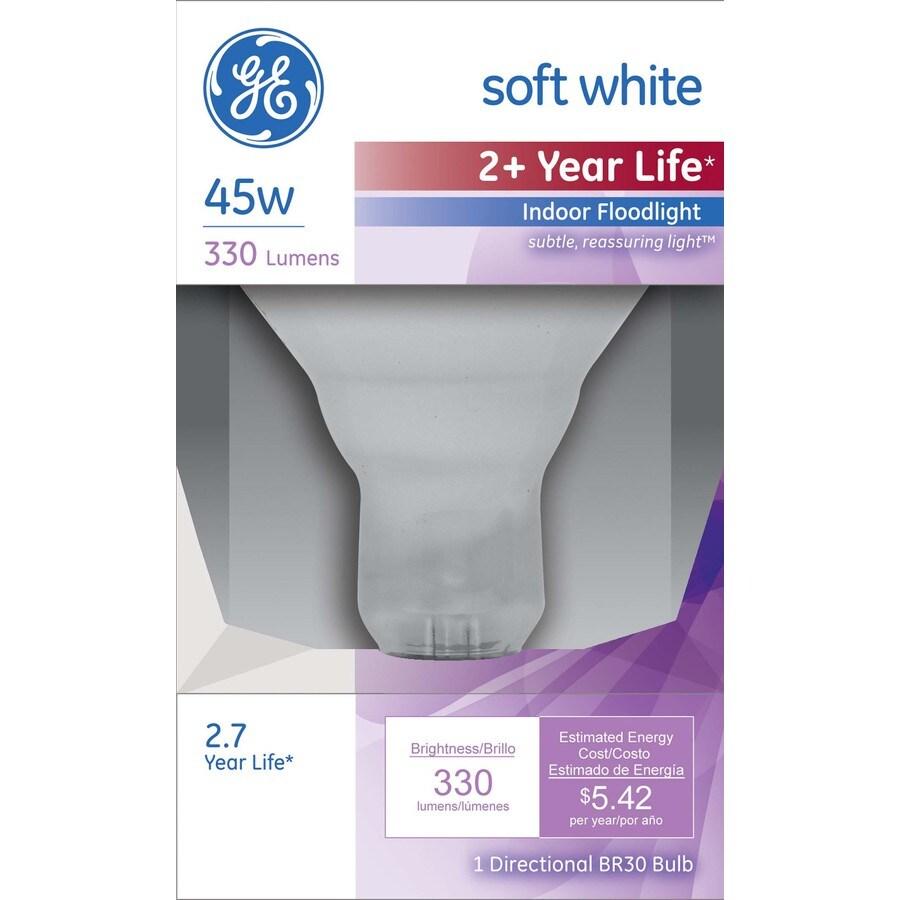 GE 45-Watt BR30 Medium Base (E-26) Soft White Dimmable Incandescent Flood Light Bulb