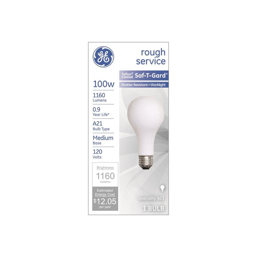 Shop Ge 100 Watt A21 Medium Base E 26 Soft White Dimmable Outdoor Incandescent Light Bulb At