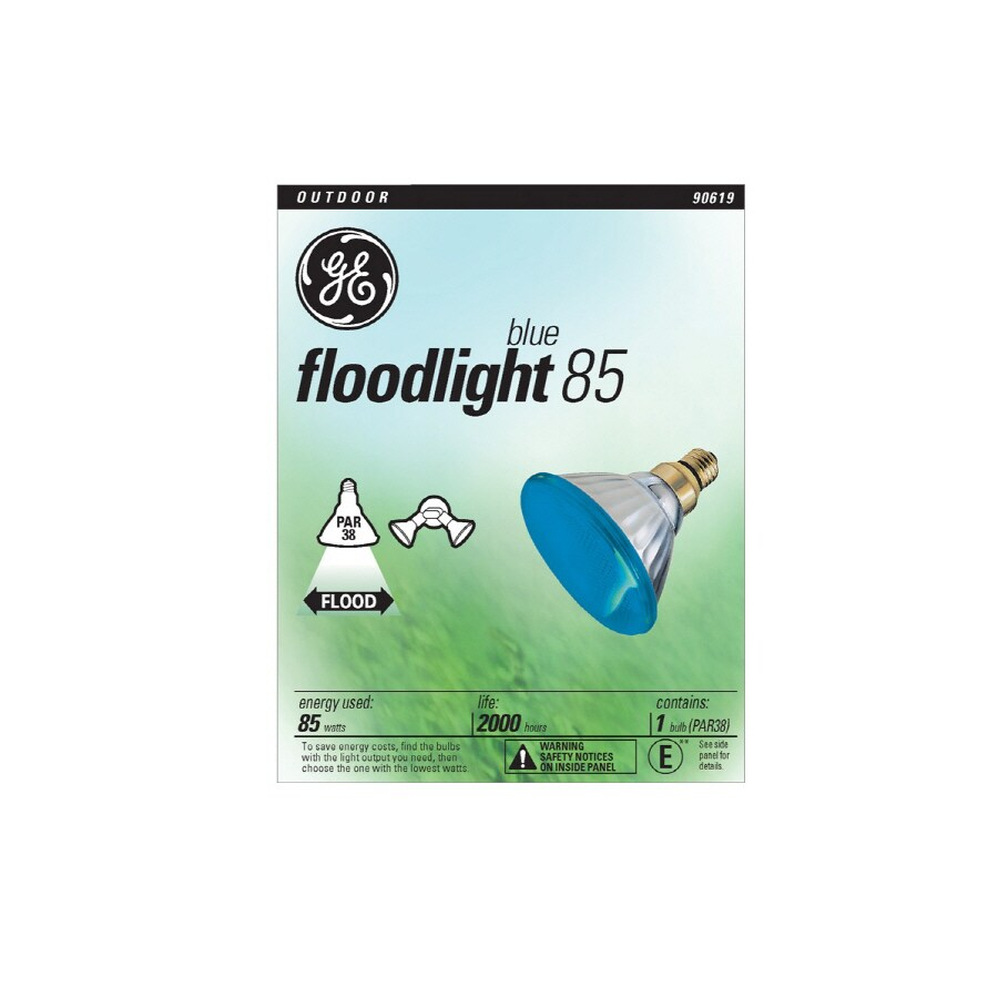 GE 85-Watt ED17 Blue Dimmable Outdoor Incandescent Flood Light Bulb