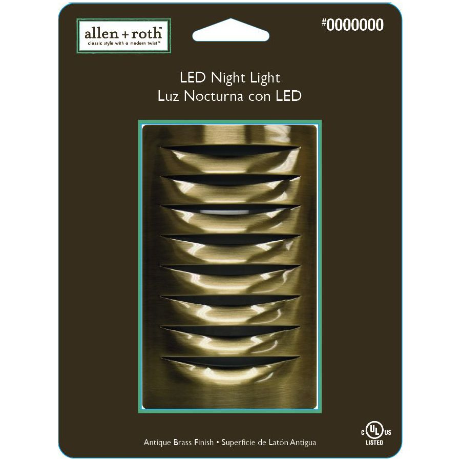allen + roth Antique Brass LED Night Light with Auto On/Off