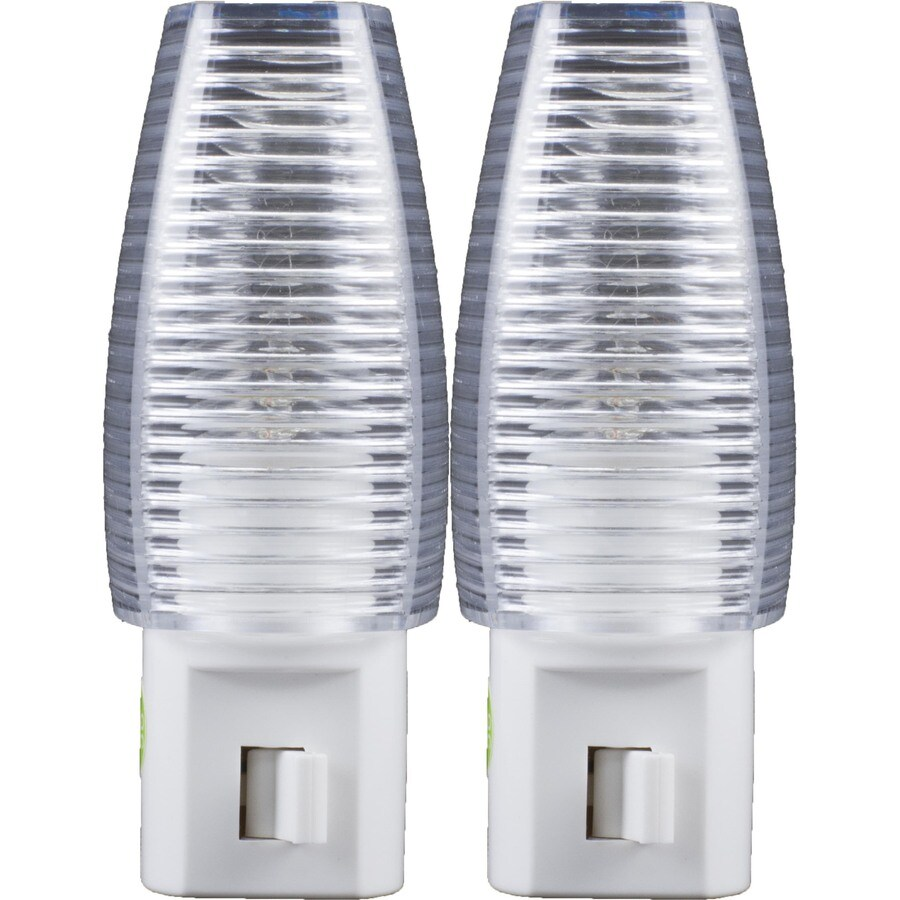 Style Selections 2-Pack White with Clear Shade Incandescent Night Light