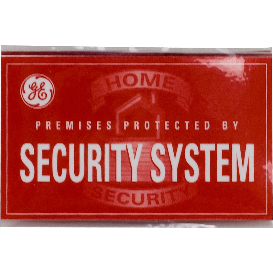 GE 1.8-in x 3-in Home Security Plaque