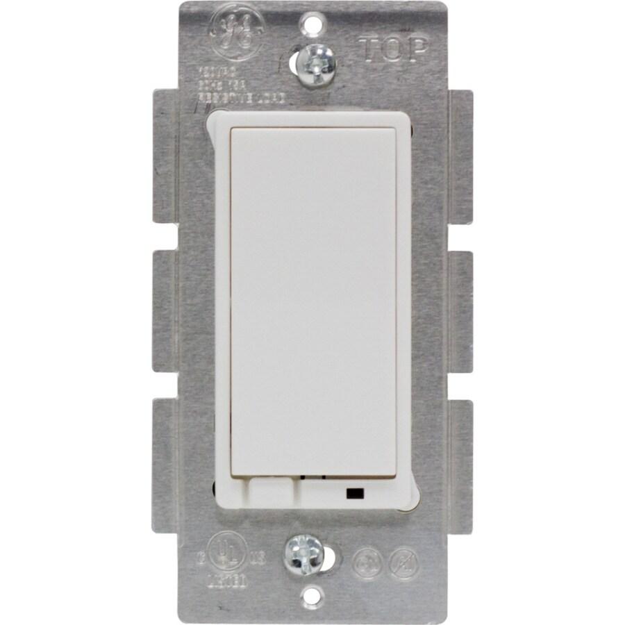 GE 3-Way Single Pole White Light Switch