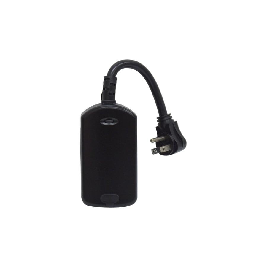 GE Iris 15-Amp 125-Volt Black Electrical Outlet