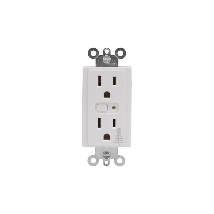 GE 125-Volt 15-Amp Iris White Duplex Electrical Outlet (Works with Iris)