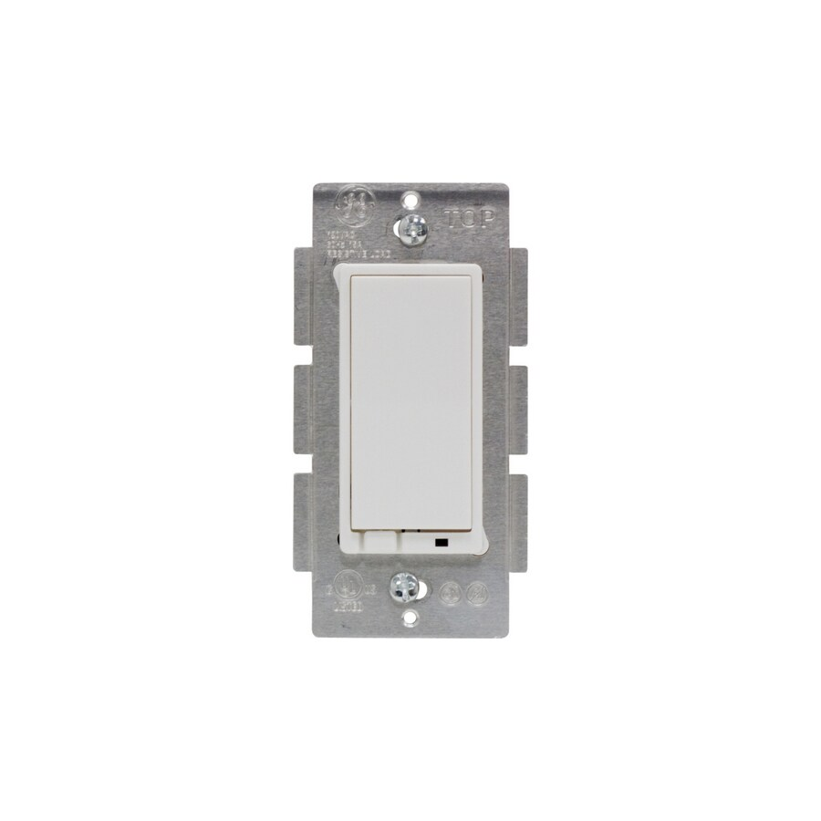 GE Single Pole White Light Switch