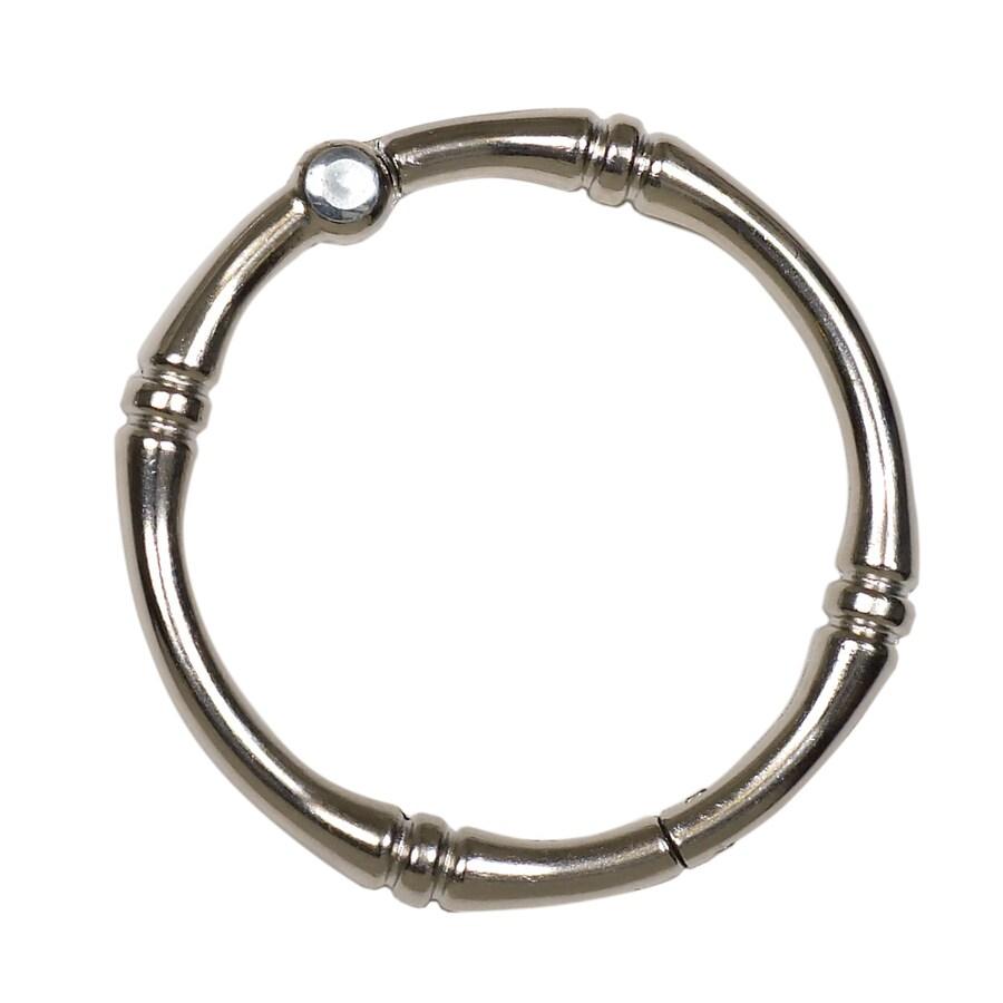 allen + roth 12-Pack Brushed Nickel Single Rings