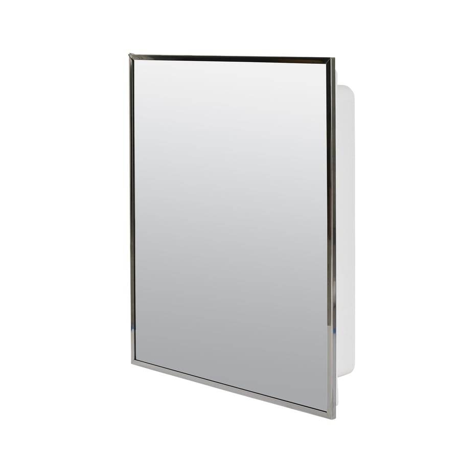 Project Source 16.13-in x 20.13-in Rectangle Surface/Recessed Mirrored Plastic Medicine Cabinet