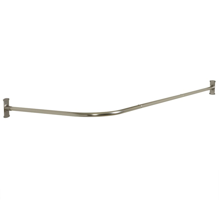 Shop Zenna Home 66 In Brushed Nickel L Shaped Fixed Shower Rod At