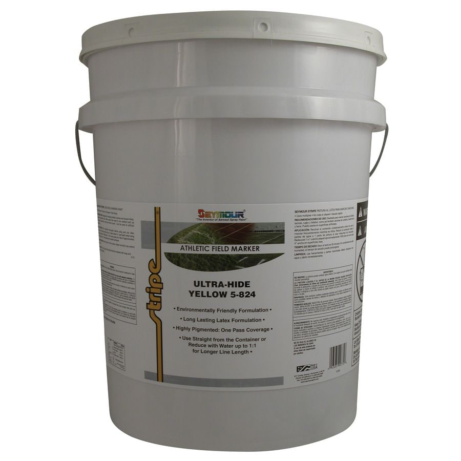 SEYMOUR Yellow Water-Based Marking Paint (Actual Net Contents: 640-fl oz)