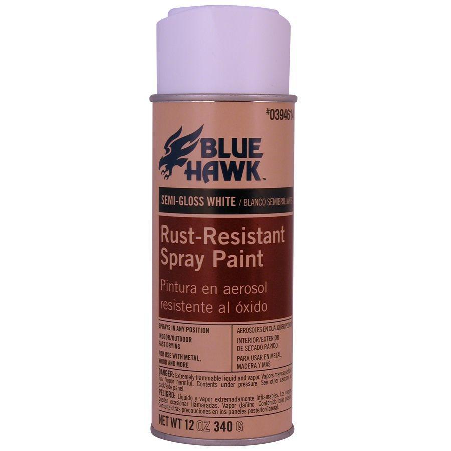 Blue Hawk 12-oz White Semi-Gloss Spray Paint