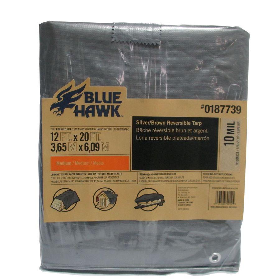 Blue Hawk 12-ft x 20-ft Polyethylene Tarp