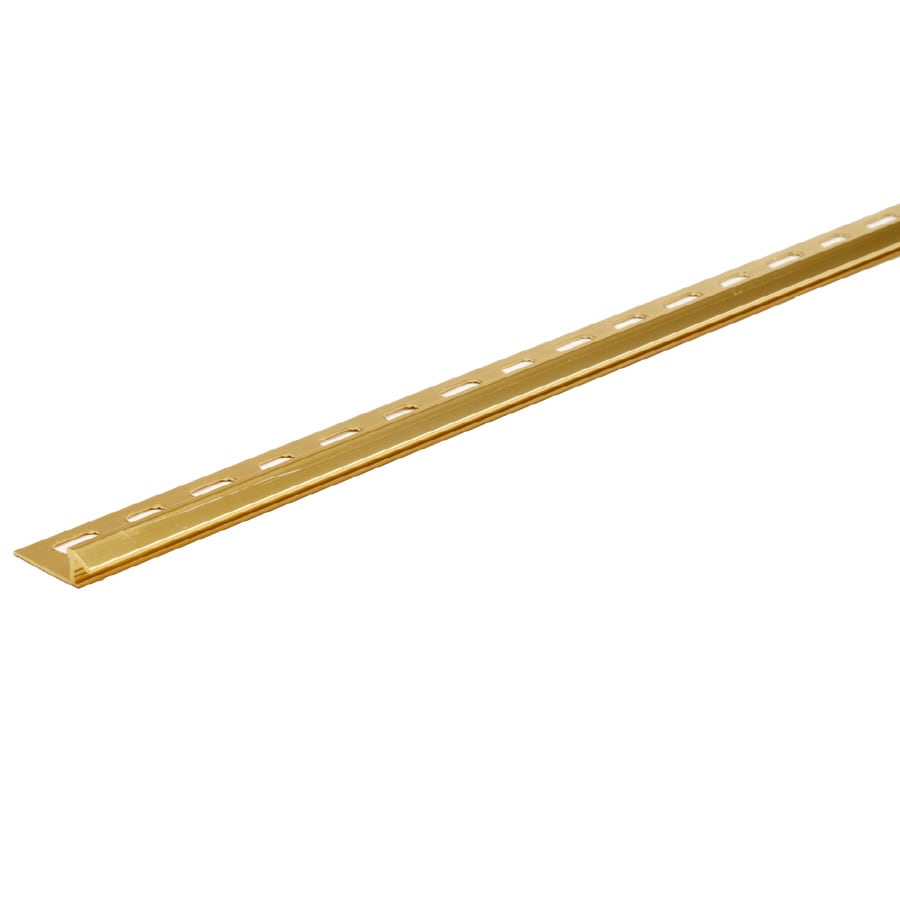 M-D Building Products 96-in L Bright Dipped Brass Carpet Edging Trim