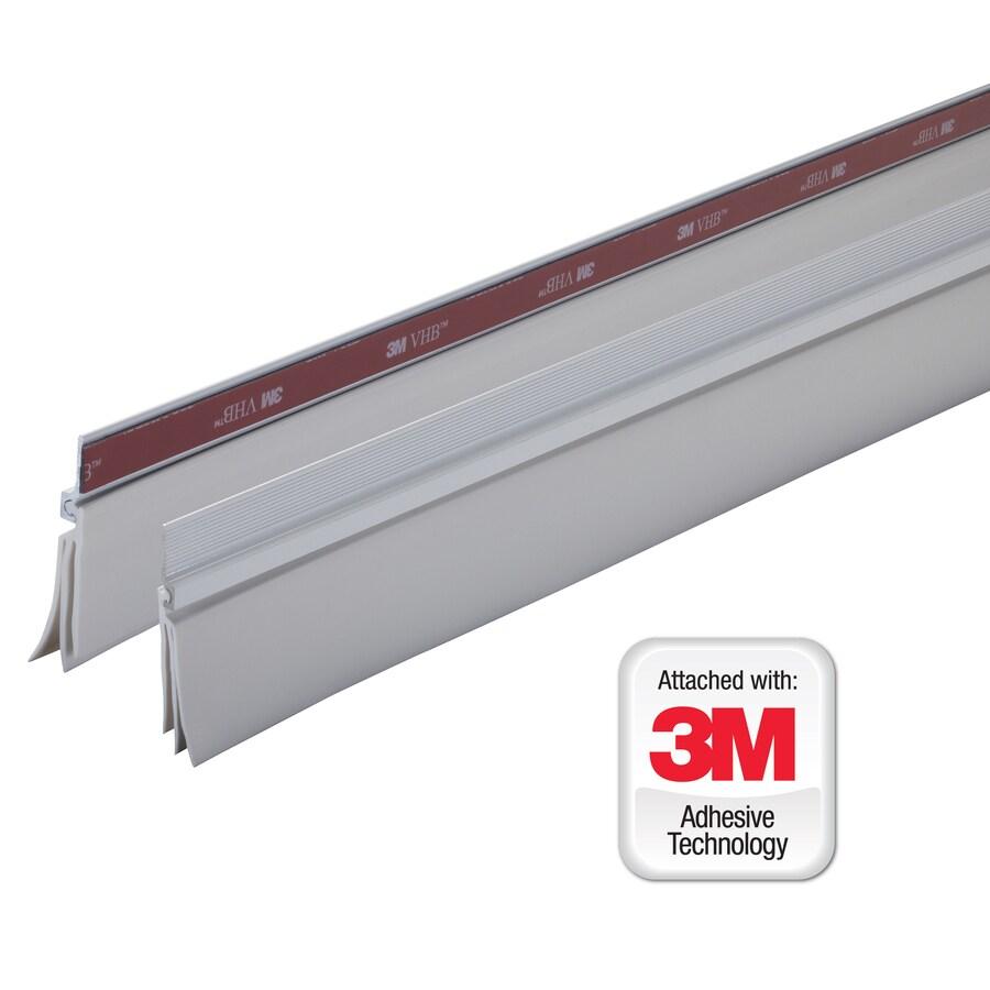 M-D Building Products 0.25-in x 3-ft White Aluminum Door Weatherstrip