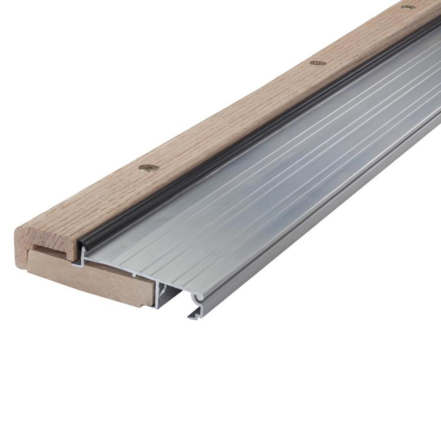 M-D Building Products 1.125-In x 4.5625-In x 36-In Mill Aluminum and Wood Door Threshold