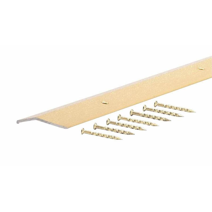 M-D Building Products 72-in L x 1-1/2-in W Fluted Brass Carpet Edging Trim
