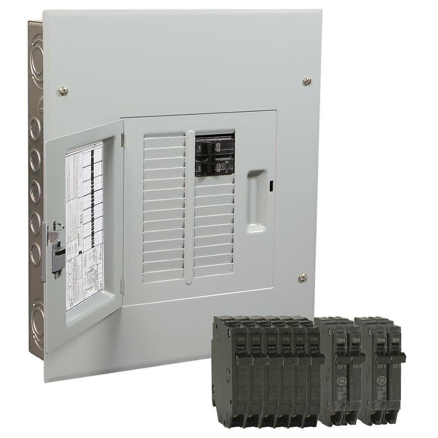 GE 12-Circuit 22-Space 100-Amp Main Breaker Load Center (Value Pack)