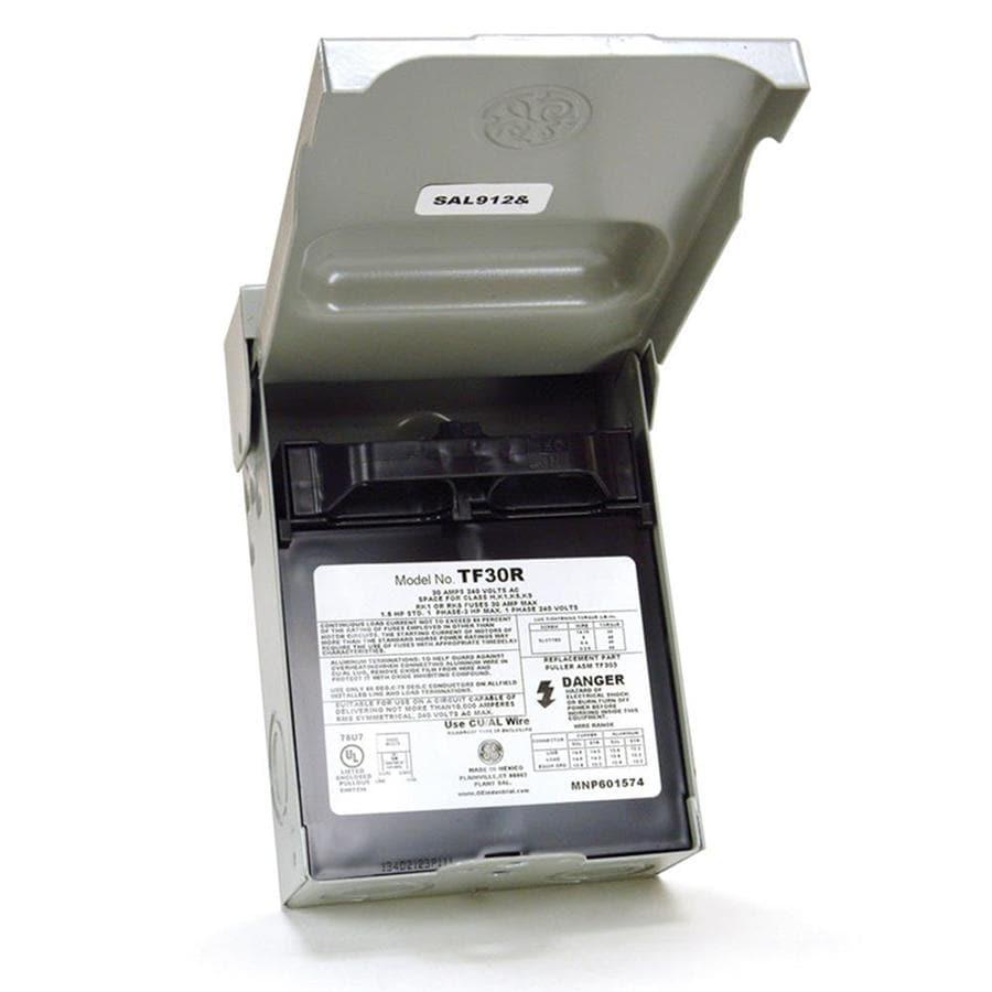 GE 30 Amp Fusible Metallic Disconnect