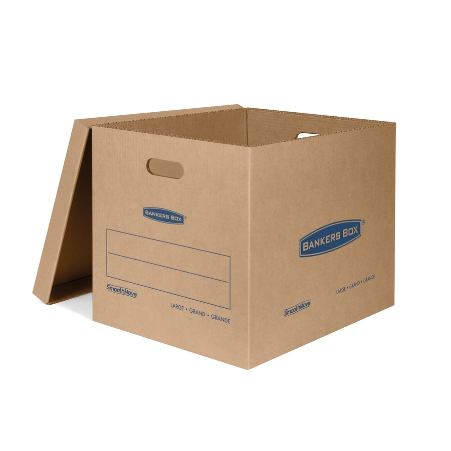 BANKERS BOX 5-Pack Large Recycled Cardboard Moving Box (Actual 17.63-in x 17.38-in)