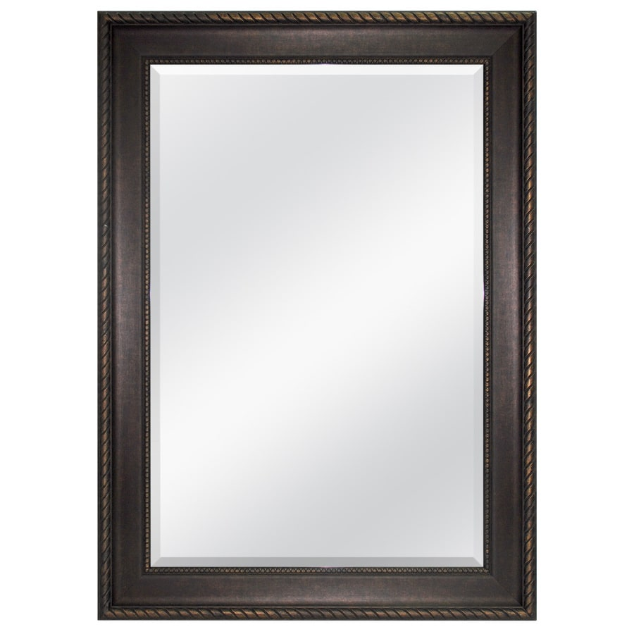 allen + roth 31-in x 43-in Bronze Beveled Rectangle Framed French Wall Mirror