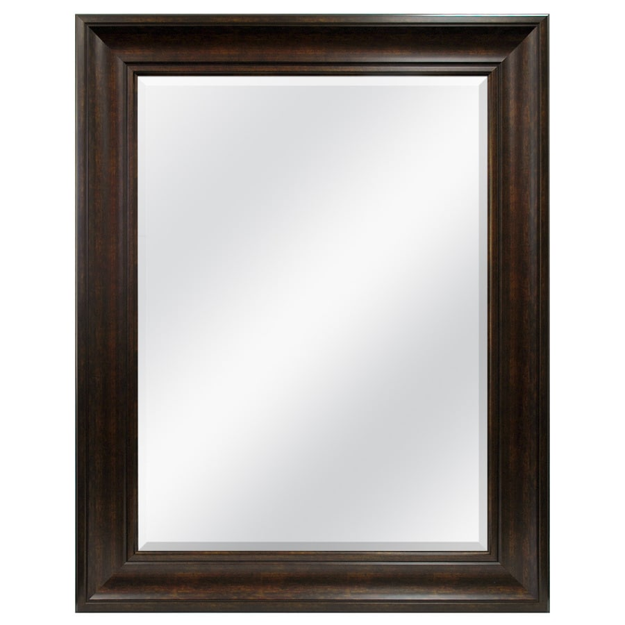 Style Selections Bronze Rectangle Framed Wall Mirror