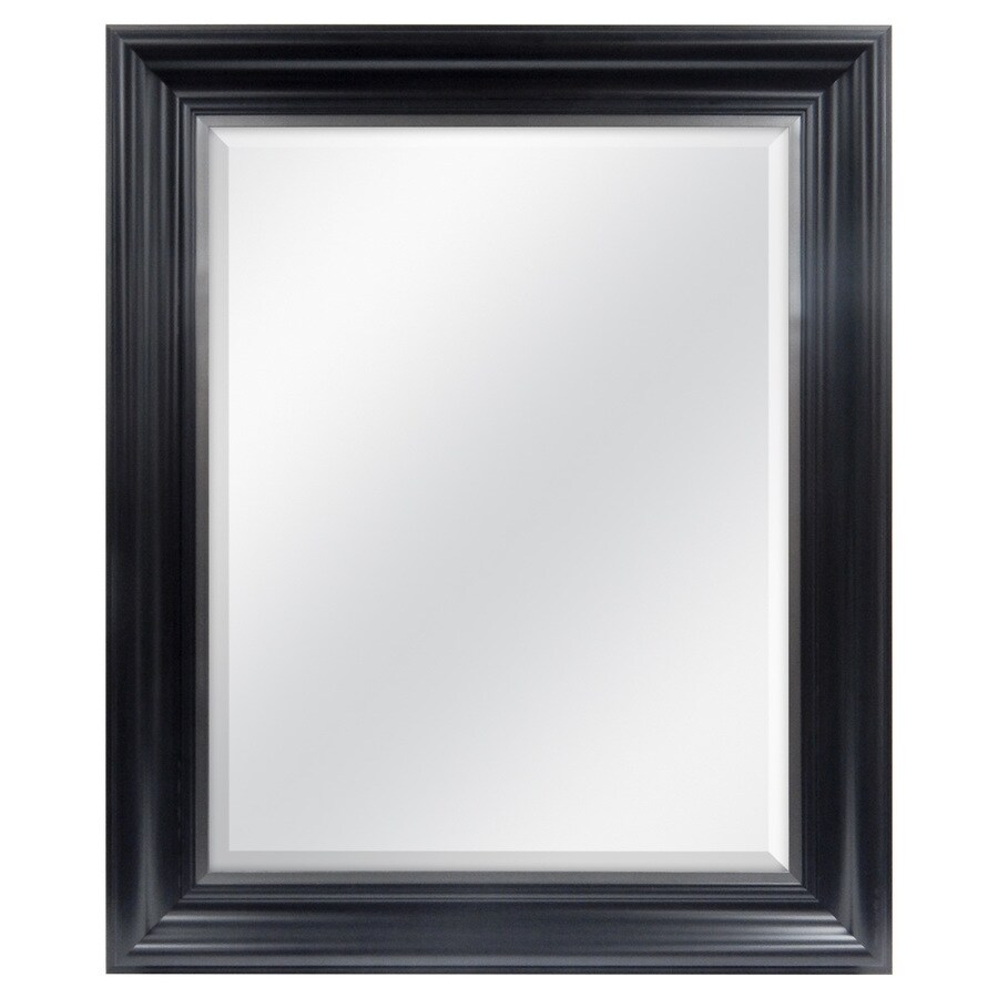 Style Selections Black Rectangle Framed Wall Mirror