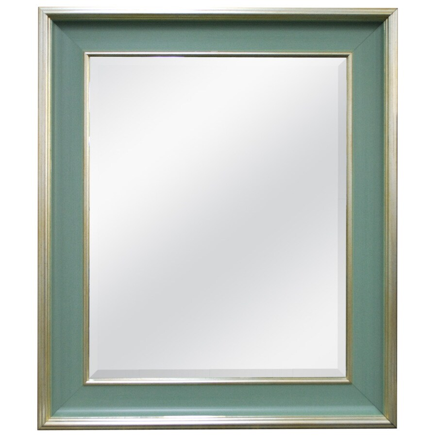 MCS Industries Cottage Blue Rectangle Framed Wall Mirror