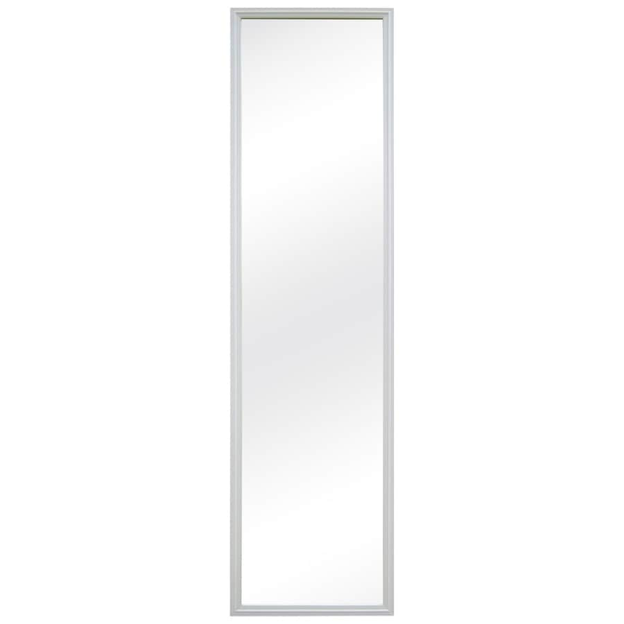 MCS Industries White Rectangle Framed Wall Mirror