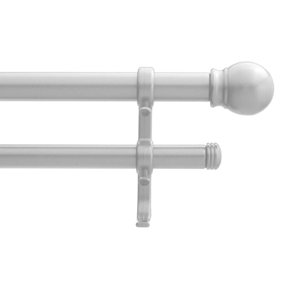 Style Selections 48-in to 84-in Satin Nickel Double Curtain Rod