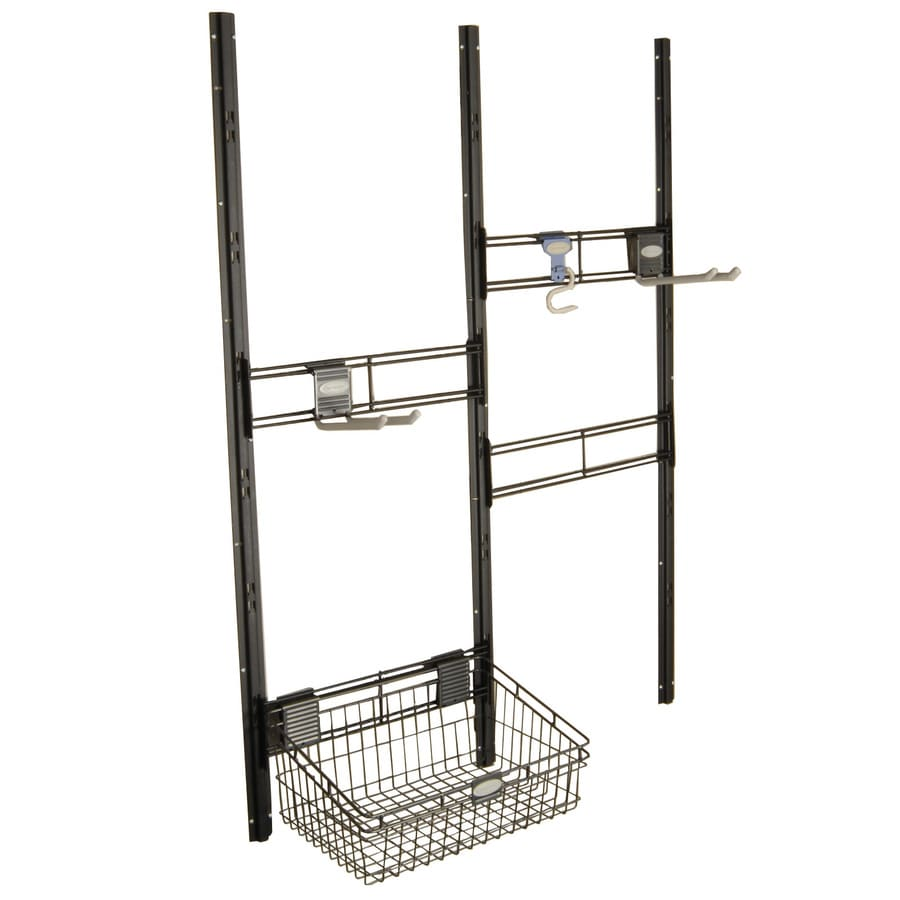 Suncast Black Powder-Coated Metal Storage Shed Tool Hanger Rack