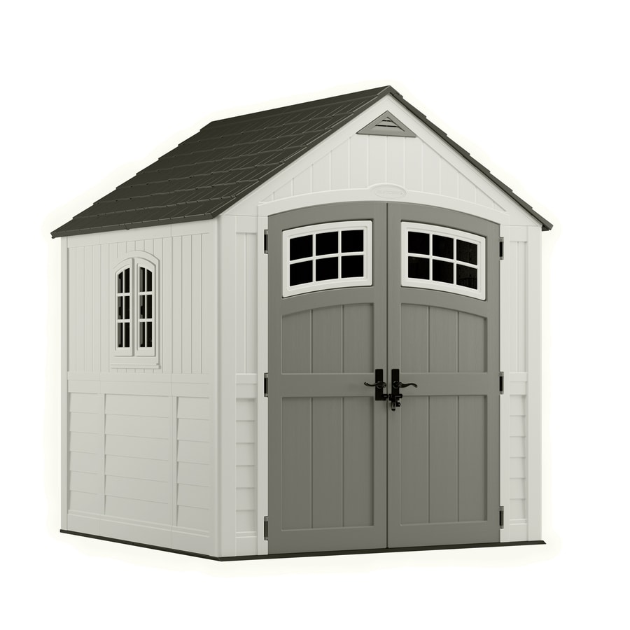 Shop suncast cascade gable storage shed common 7 ft x 7 for Gable decorations home depot