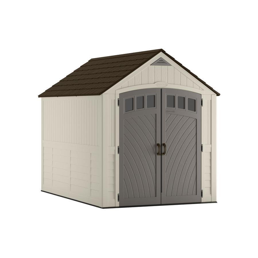 Shop suncast covington gable storage shed common 7 ft x for Gable sheds