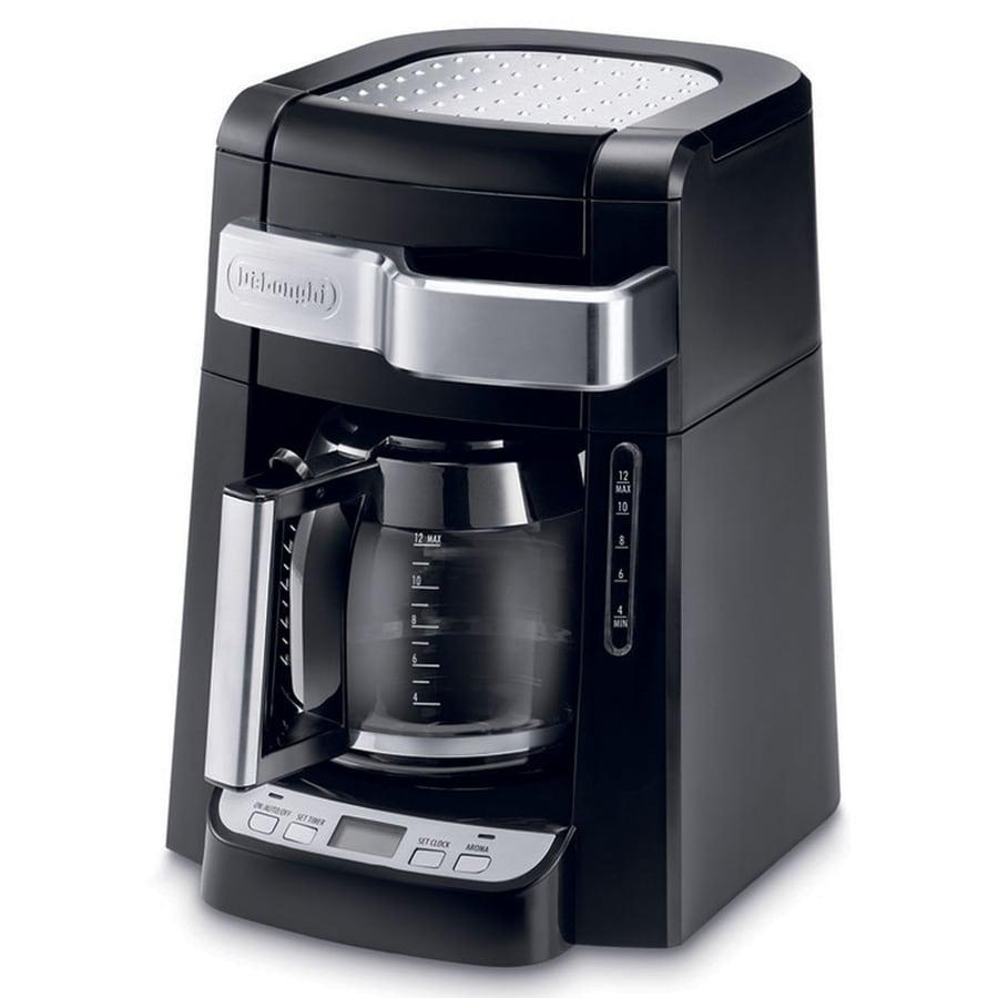 Shop De Longhi 12-Cup Black Programmable Coffee Maker at Lowes.com