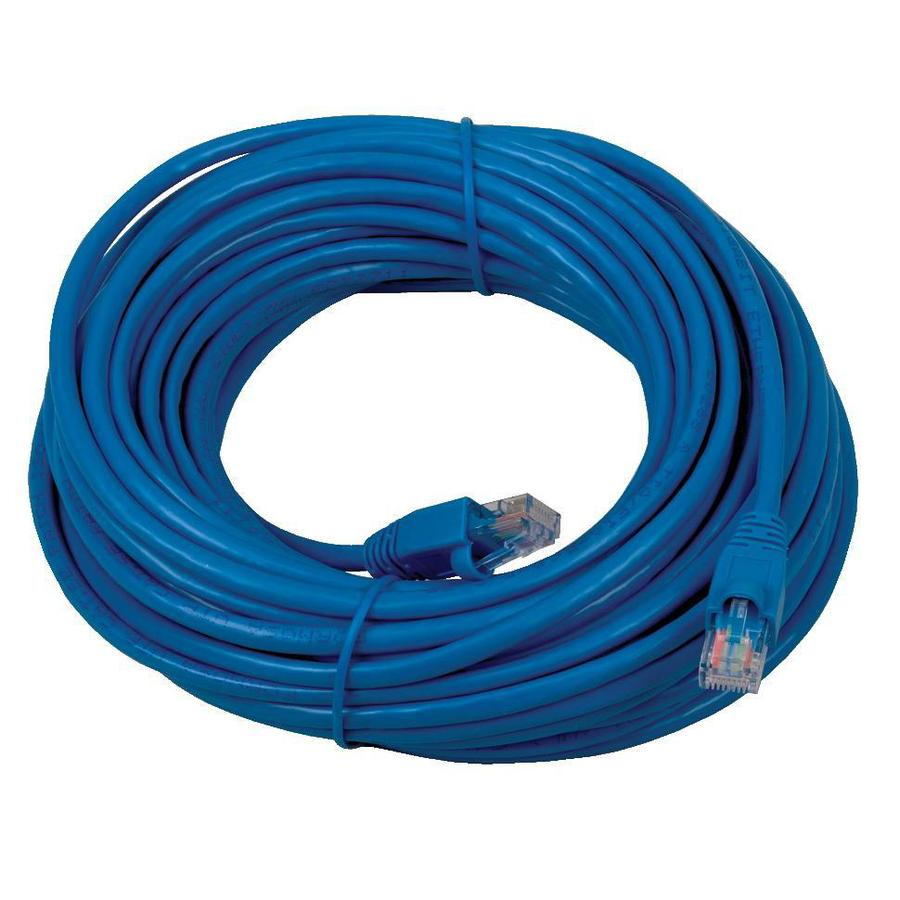 RCA 100-ft 26/1 CAT 5E Plenum Blue Data Cable Spool