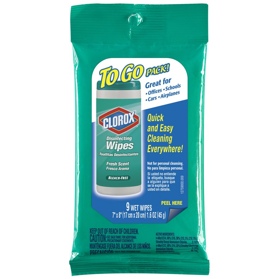 Clorox Disinfecting Wipes 9-Count Fresh Scent All-Purpose Cleaner