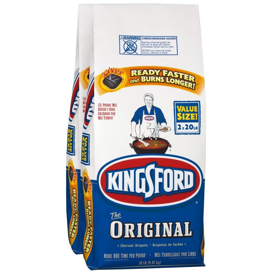 Kingsford 2-Pack 20-lb (40-lb Total) Charcoal Briquettes