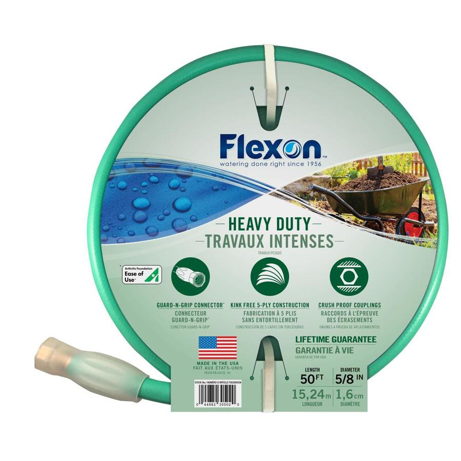 FLEXON 5/8-in x 50-ft Heavy-Duty Garden Hose
